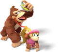 Donkey Kong and Dixie Kong - Donkey Kong Country Tropical Freeze.png