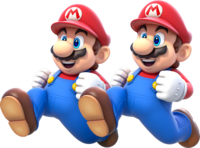 Double Mario Artwork - Super Mario 3D World.png