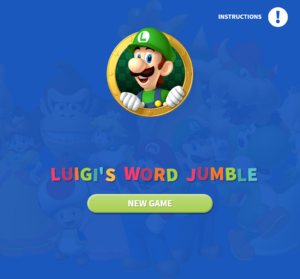 Luigi's Word Jumble title screen.png