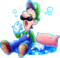 Luigi Sleepy Artwork (alt) - Mario & Luigi Dream Team.png