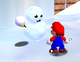 A Mr. Blizzard in Super Mario 64.