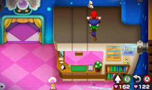 Mario and Luigi performing the Balloon Jump in Mario & Luigi: Bowser's Inside Story and Mario & Luigi: Bowser's Inside Story + Bowser Jr.'s Journey
