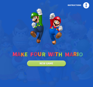 Make four with Mario title screen.png