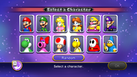 The character selection and boss matchup screens.