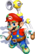 Mario Dirty Graffiti Artwork - Super Mario Sunshine.png
