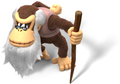 Cranky Kong Artwork - Donkey Kong Country Tropical Freeze.png