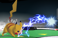 Pikachu's Thunder Jolt, from Melee and Brawl respectively.