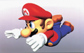 Mario Sliding Artwork (alt) - Super Mario 64.png
