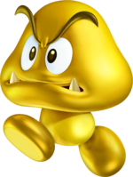 Gold Goomba Artwork - New Super Mario Bros. 2.png
