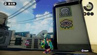 The 8-bit sprite cameos in Splatoon.
