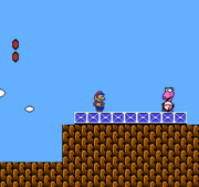 The NES version (top) compared with the SNES version (bottom).