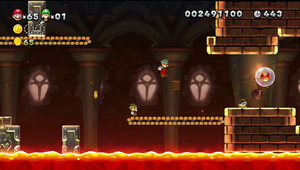 NSMBU Roy's Conveyor Castle Screenshot.png