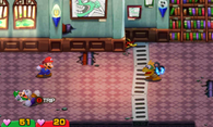 The trip status in Mario & Luigi: Superstar Saga and Mario & Luigi: Superstar Saga + Bowser's Minions.