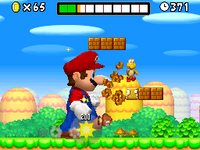 World 1 new super mario bros super mario wiki the mario the first level in new super mario bros is a meadow with flowers bushes and mushrooms scattering the land peachs castle is visible in the background publicscrutiny Gallery