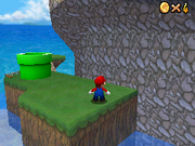 Mario killing a Big Piranha Flower in the DS remake.