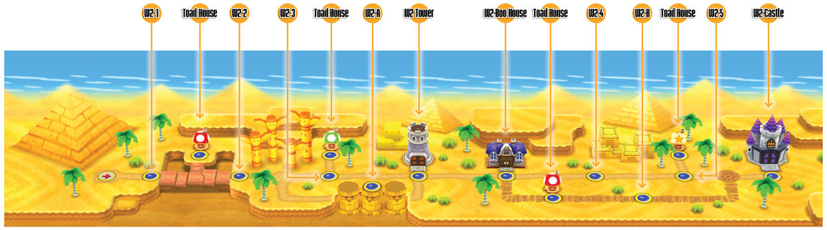 super mario bros u deluxe complete map