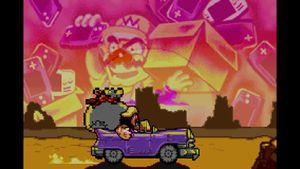 Wario reminiscing about the time he slaughtered GBAToad's people.