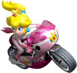 Bikes Mario Kart 8 Peach riding the Mach Bike