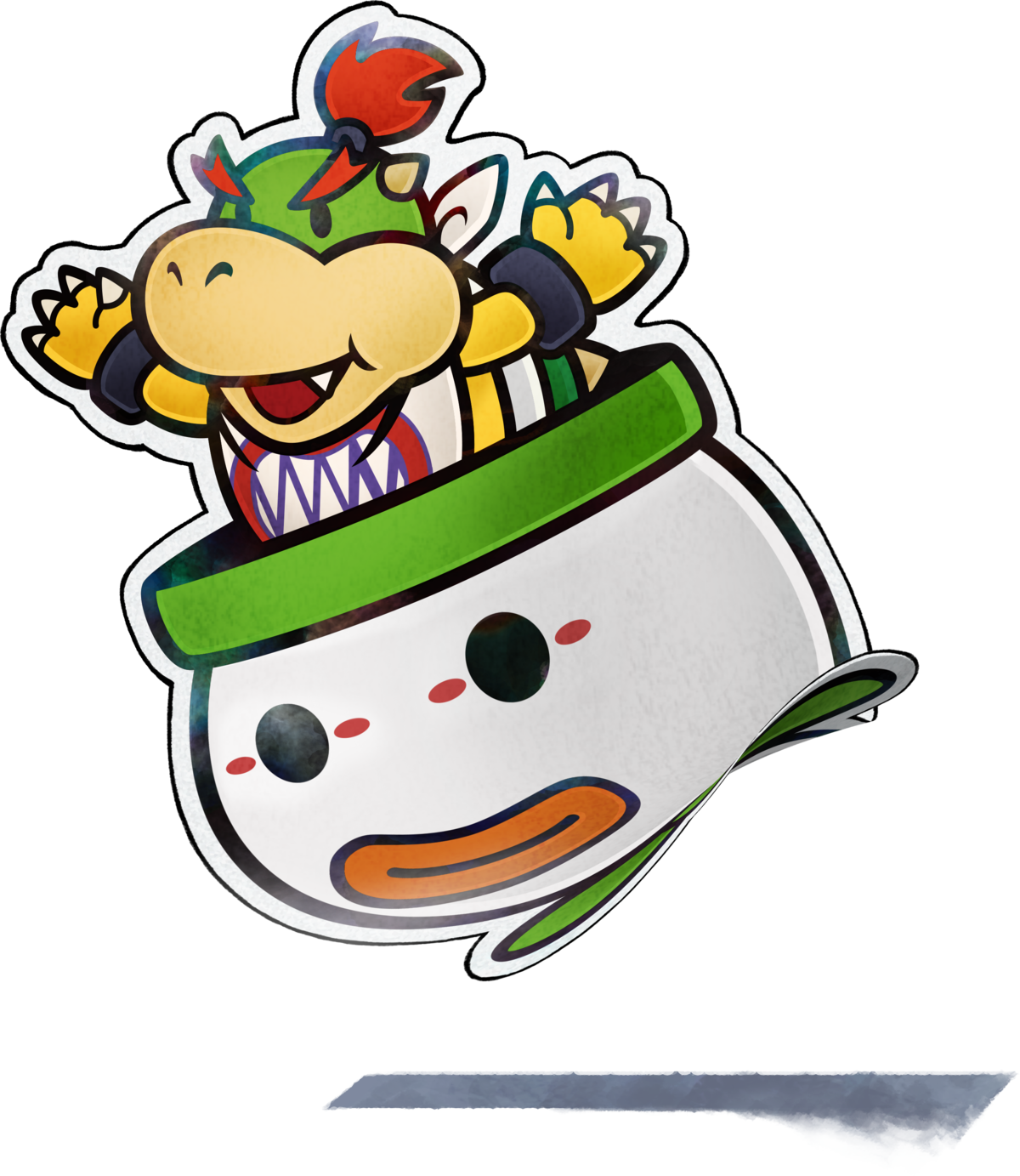 Paper Bowser Jr Super Mario Wiki The Mario Encyclopedia