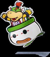 Paper Bowser Jr Super Mario Wiki The Mario Encyclopedia
