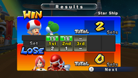 White Mage, Yoshi, and Toad defeat Ninja, Pure White Mage, and Black Mage in a 3-on-3 Dodgeball match.