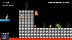 Mario Faces Bowser Jr In The Super Bros 3 Game Style Of Maker