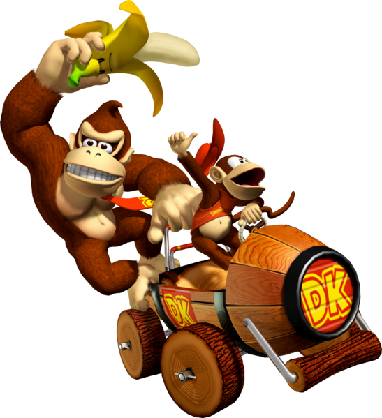 File:Donkey Kong and Diddy - Mario Kart Double Dash.png