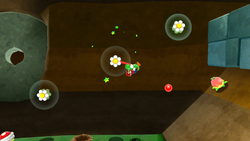 SMG2 Yoshi Swinging on Flower Grapple.png