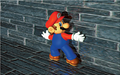 Mario On Ledge Artwork - Super Mario 64.png
