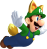 Raccoon Luigi - New Super Mario Bros 2.png