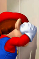 Cutscene - Mario slams against the elevator door.png