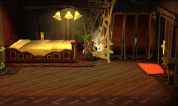 Bedroom Luigi S Mansion Dark Moon Super Mario Wiki The