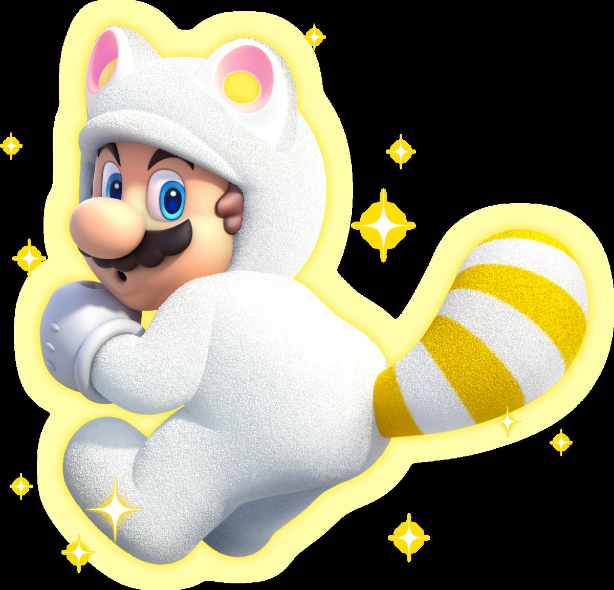 White Tanooki Mario Super Mario Wiki The Mario Encyclopedia