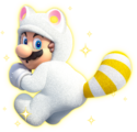 White Tanooki Mario Artwork - Super Mario 3D World.png