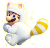 White Tanooki Mario Super Mario Wiki The Mario Encyclopedia