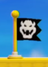 A Checkpoint Flag in the New Super Mario Bros. U (left) and Super Mario 3D World (right) styles