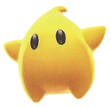 A Giant Luma in Super Mario Galaxy 2.