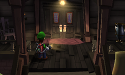 Luigi out front of Gloomy Manor.png