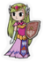 Young Zelda Minish Cap Sticker.png