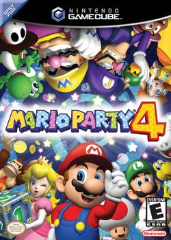 Mario Party 4's cover art