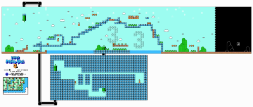 Layout in the NES version