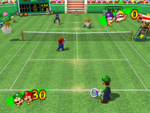 Peach Dome (Grass) - Mario Power Tennis.png