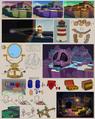 Fortune Island Paper Mario Map