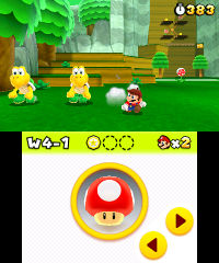 Koopa Troopas, at a forest, and a Koopa Troopa sprite, from Super Mario 3D Land.