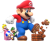 Mega Mario Group Artwork - Super Mario 3D World.png