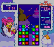 Difference between Panel de Pon (left) and Tetris Attack (right)