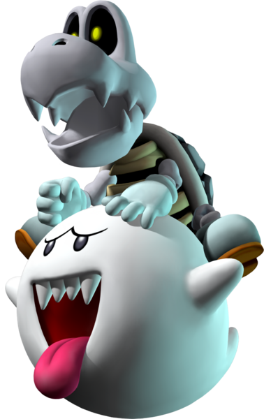 File:Dry Bones and Boo Artwork - Mario Party 7.png