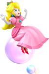 Princess Peach Bubble Artwork - Mario Party Island Tour.png