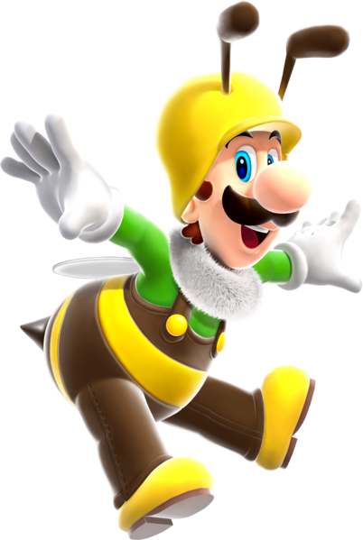 File:Bee Luigi Super Mario Galaxy.png