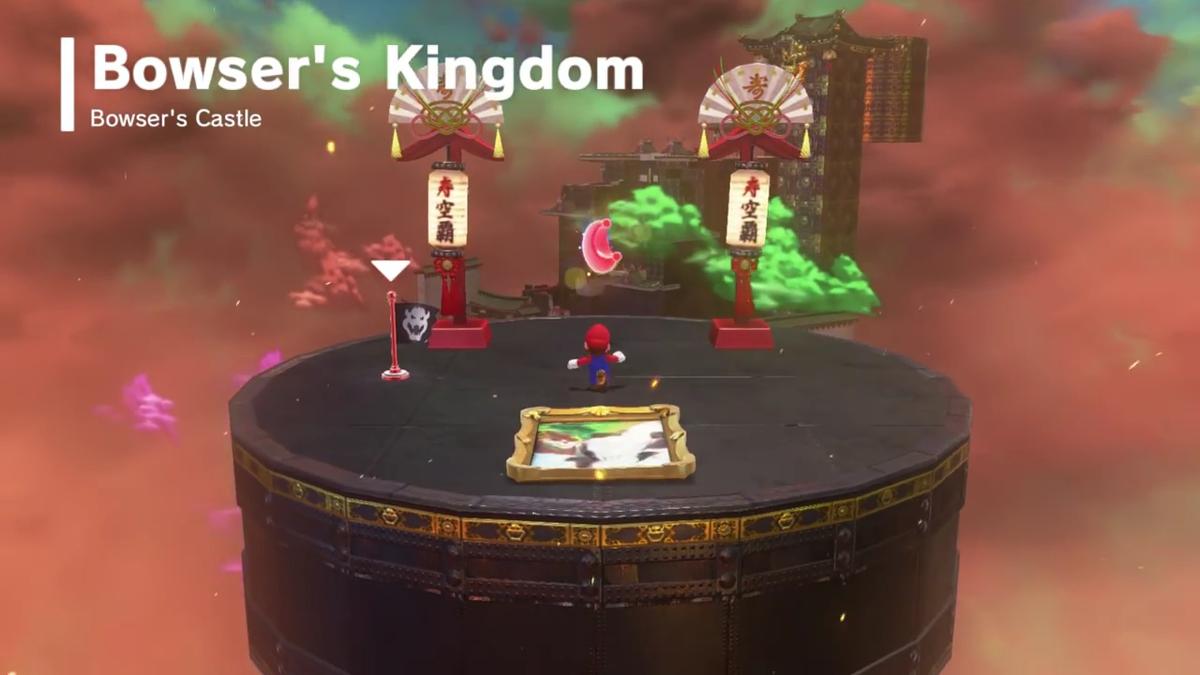 Island In The Sky Bowser S Kingdom Super Mario Wiki The